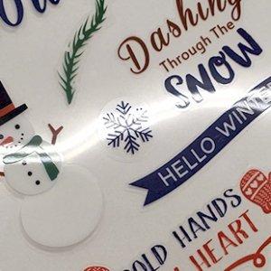 彩色貼紙-麗龍亮P-聖誕貼紙